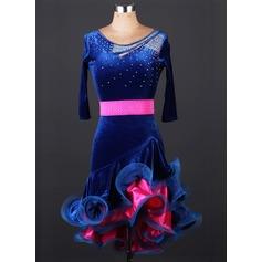 Women's Dancewear Velvet Latin Dance Leotards