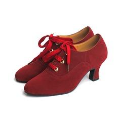 Mulheres Camurça Saltos Bombas Moderno Sapatos de dança