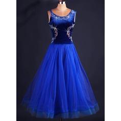 Женщины Одежда для танцев Органза Латино Платья