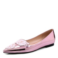 Women's Leatherette Flat Heel Flats Closed Toe shoes (086095927)