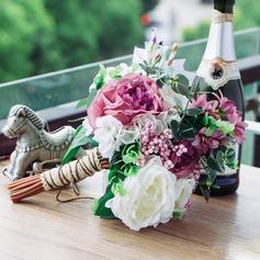 Witzig Mid Hand Gebunden Kunstseide Brautsträuße