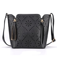 Bucket Shaped PU Fashion Handbags