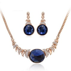 Fashional Alloy/Rhinestones/Glass Ladies' Jewelry Sets