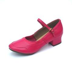 Women's Real Leather Heels Pumps Practice Dance Shoes