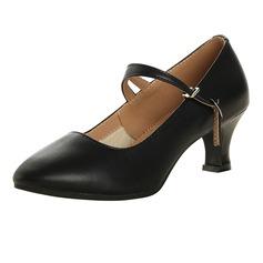 المرأة جلدية حقيقية مضخات مع رباط الكاحل أحذية رقص