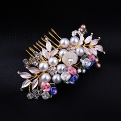 Exquisito Crystal/Rhinestone/Aleación/Perlas de imitación/Resina Peines y pasador