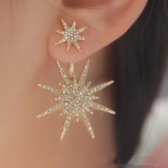 Shining Alloy Rhinestones Ladies' Fashion Earrings (Sold in a single piece)