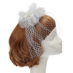 Special Imitation Pearls/Net Yarn Fascinators
