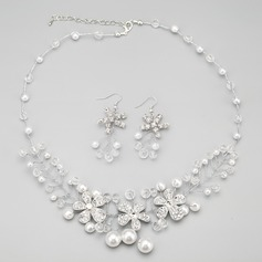 Charming Alloy With Rhinestone/Imitation Pearls Ladies' Jewelry Sets