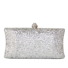Shining Metal With Glitter/Rhinestone Clutches