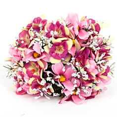 Nice Round Artificial Silk Bridal Bouquets