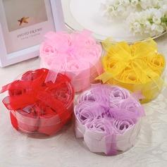 7 Stück Schöne Rose Seife mit Bänder