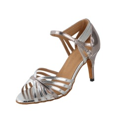 Women's Leatherette Heels Sandals Latin With Buckle Dance Shoes