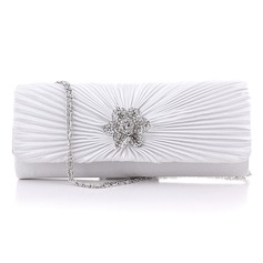 Elegant Silk With Crystal/ Rhinestone/Ruffles Clutches/Evening Handbags