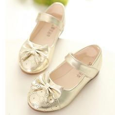 Girl's imitatieleer Flat Heel Closed Toe Flats met strik Velcro