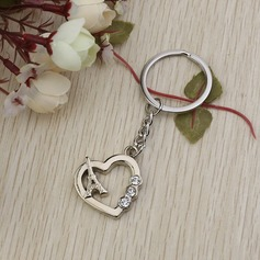 Classic Heart & Eiffel Tower Zinc alloy Keychains (Set of 6)