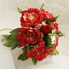 Gorgeous Round Satin Bridesmaid Bouquets