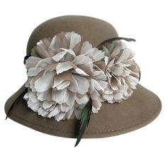 Ladies' Charming Autumn/Winter Wool With Bowler/Cloche Hat