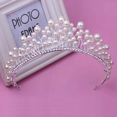 Ladies Classic Rhinestone/Imitation Pearls Tiaras