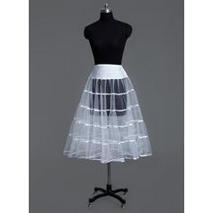 Women Tulle Netting/Lycra Tea-length 1 Tiers Petticoats