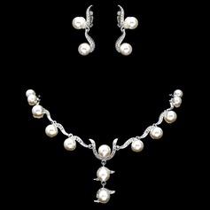 Élégante Alliage/Pearl Femmes Parures