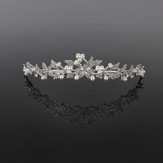 Fashion Alloy/Pearl Tiaras/Headpiece