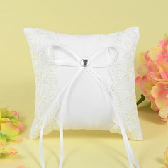 Luxury Ring Pillow With Ribbons/Bow/Lace