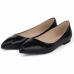 Patent Leather Flat Heel Flats Closed Toe shoes