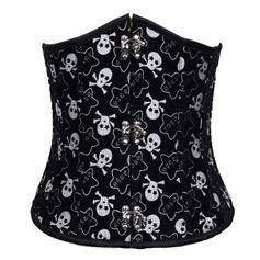 Cotton Strapless Lace-Up/Front Busk Closure Shapewear