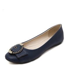 المرأة بو كعب مسطح الشقق تو مغلقة مع مشبك أحذية (086138731)