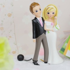 Figurine Funny & Reluctant Resin Wedding Cake Topper