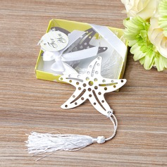 Starfish Stainless Steel Bookmarks & Letter Openers With Ribbons