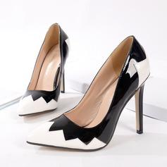 Frauen Kunstleder Stöckel Absatz Absatzschuhe mit Zweiteiliger Stoff Schuhe