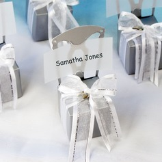 Chair Design Cubic Favor Boxes With Ribbons (Set of 12)