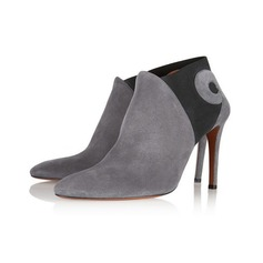 Women's Suede Stiletto Heel Ankle Boots With Split Joint shoes