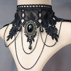 Chic Alloy Lace With Lace Gem Ladies' Fashion Necklace