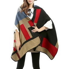 Color Block Oversized/Shawls Poncho