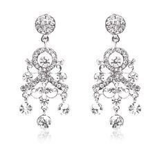 Maravilloso Aleación/Diamantes de imitación Señoras' Pendientes