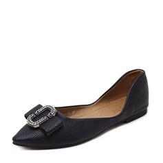 المرأة بو كعب مسطح الشقق تو مغلقة مع مشبك أحذية (086139687)