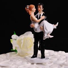 "Figurine ""Sweet Moment"" Resin Wedding Cake Topper"