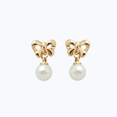 Lovely Alloy Imitation Pearls Ladies' Fashion Earrings
