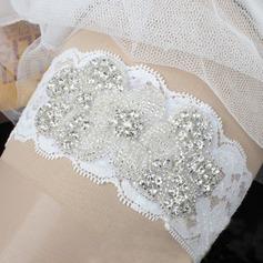 Unique Lace With Rhinestone Wedding Garters