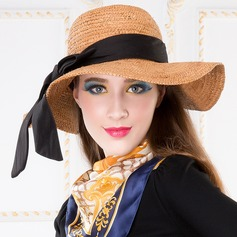 Ladies' Charming Summer Raffia Straw With Bowknot Floppy Hat/Straw Hat