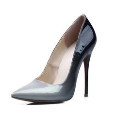 De mujer Piel brillante Tacón stilettos Salón Cerrados zapatos (085086294)