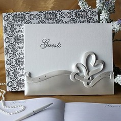 Double Hearts Resin Guestbook