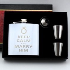 Personalized Pretty Stainless Steel Flasks (129061069)
