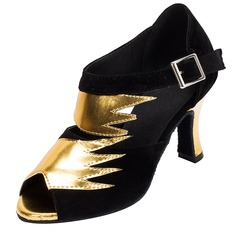 Women's Satin Leatherette Heels Latin Dance Shoes