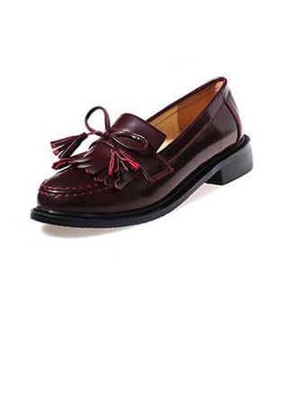 Femmes Similicuir Talon plat Chaussures plates avec Tassel chaussures
