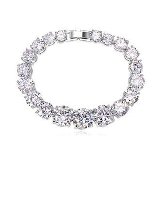 Luxueux Zircon de/Platine plaqué Dames Bracelets