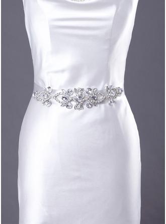 Delicate Satin Women's Wedding/Bridal Ribbon Sash With Rhinestone